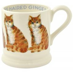 Buy Emma Bridgewater Year In The Country Long Hair Ginger Cat Half Pint Mug from our Mugs range at John Lewis & Partners. Dog Lover Gifts, Dog Gifts, Cute Ginger, Emma Bridgewater Pottery, Orange Kittens, Half Pint, Halloween Mug, Cat Mug, Ginger Cats