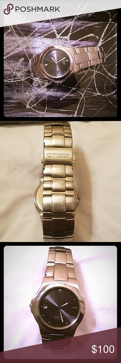 Citizen Eco-Drive Steel Band Men's Watch Citizen Eco-Drive Steel Band Men's Watch. The only flaw that this watch has is minor scratches on the band Citizen Accessories Watches