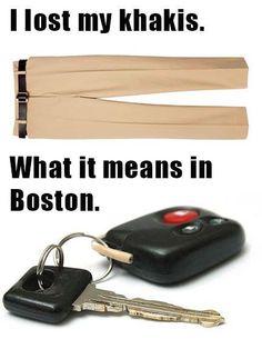 Car keys, Boston version.