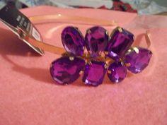 Brand New Purple Gemstone Headband