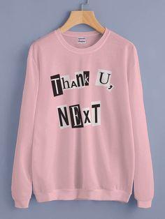 Thank U, Next Pop art Ariana Grande Unisex Crewneck Sweatshirt Adult - Fashion Pop Art Fashion, Teen Fashion, Fashion Outfits, Sweatshirt Outfit, Crew Neck Sweatshirt, Graphic Sweatshirt, Ariana Merch, Mode Emo, Stylish Hoodies
