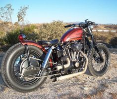 1973 Harley Davidson 1000cc Iron Head Sportster Bobber motorcycle.