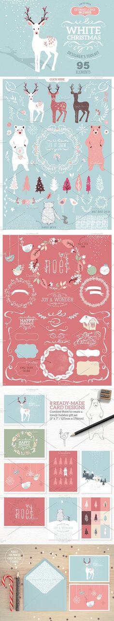 White Christmas designer toolkit. Christmas Patterns. $25.00