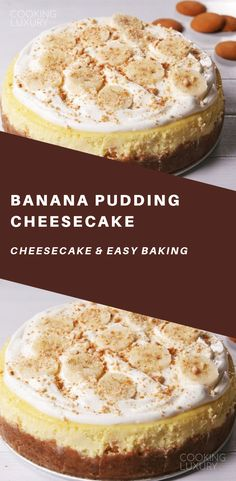 What does pudding mix do to cheesecake? We weren't sure before this recipe. Now we know it makes cheesecake amazingly creamy and extra flavorful. If you can't find banana cream pudding mix, vanilla totally works! Banana Cream Pudding, Banana Pudding Cheesecake, Cheesecake Recipes, Cheesecake Cake, Köstliche Desserts, Delicious Desserts, Dessert Recipes, Awesome Desserts, Easy Cooking