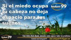 Auto ayuda. Frases de superación y éxito ¿Te gusta esta frase? Compártela! Únete a nuestra página en http://facebook.com/autoayuda99 Visita nuestro Blog: http://autoayuda99.blogspot.com/