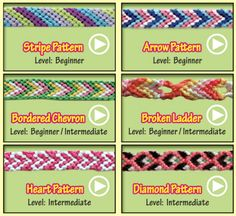 Mexico friendship bracelet crafts for kids Macrame Tutorial, Bracelet Tutorial, Yarn Bracelets, Diy Friendship Bracelets Patterns, Chevron, Crafts To Do, Kids Crafts, Crafty Craft, Bracelet Designs