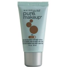 "Pinner says: Pure Makeup  Maybelline Pure Makeup, $6   ""This water-based foundation gives sheer coverage and a beautiful glow. And since it doesn't contain oil, my skin doesn't break out or get shiny."""