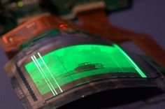 flexible display, OLED, TFTs, thin film transistors, color display, flexible electronics, substrate