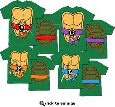 TMNT Teenage Mutant Ninja Turtles Costume Green T-shirt