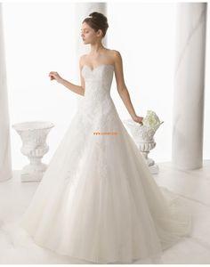 Kyrka Sweep Släp Ärmlös Bröllopsklänningar 2014