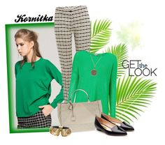 """""""september in green jumper"""" by kornitka ❤ liked on Polyvore featuring Front Row Shop, Etro, Phase Eight, GUESS, Rupert Sanderson, Charter Club and Alexis Bittar"""