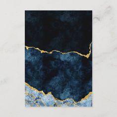 Art Japonais, Blue Gold, Navy Blue, Gold Art, Resin Art, Gold Foil, Diy Art, Art Inspo, Abstract Art