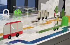 Gran maqueta de juegos sobre los caminos de la basura para un Aula Ambiental