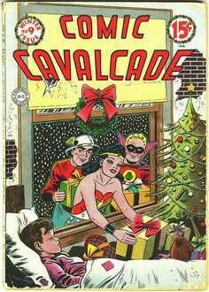 [LMH] Comic Cavalcade #9, Winter 1944/Cover by Everett E. Hibbard