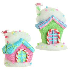 RAZ Candy Sprinkles 7 inch Candy House Christmas Ornaments