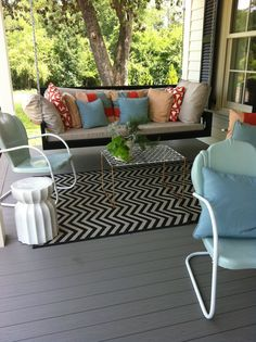 front porch swing | Front Porch - Charleston Swing Bed | Outdoor Spaces