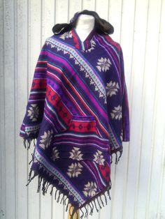Woolen Ethno poncho Wool Poncho hoody cape warm fringe boho cape boho woolen wrap stylish poncho hooded schawl