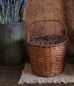 A beautiful feather basket