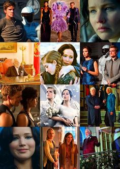Collage of Catching Fire stills