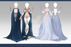 (OPEN) Adoptable Outfit Auction 177 - 178 by Risoluce.deviantart.com on @DeviantArt