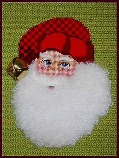 Santa - I stitched the entire beard in velvet stitch.