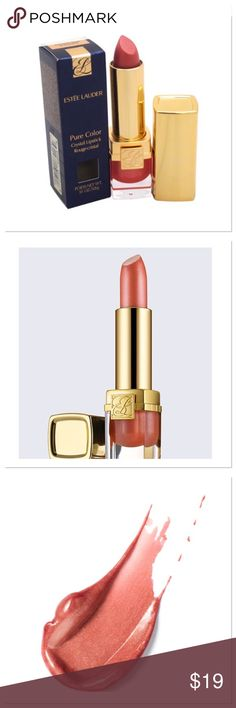 Estée Lauder Pure Color Crystal Lipstick Color so incredible, it leaves your lips wanting more. Maximized impact. Magnified vibrancy, dimension and brilliance. True Vision™ technology takes ordinary color and makes it extraordinary. Wears for hours. Stays color-true. Enriched with lip-loving ingredients, including apricot kernel, shea butter and murumuru butter that leave lips soft and creamy smooth. Each shade comes in the seductive Crystal finish that suits it best: sheer Creme or…