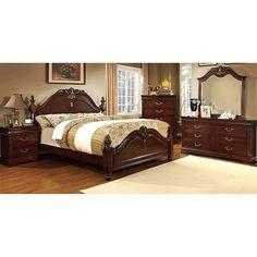 Beautiful cherry veneered bedroom set Dovetail drawer joints ...