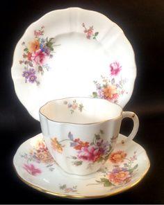 Royal Crown Derby Posies English China VintageTea set Tea cup Trio
