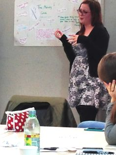 Level 4 Portsmouth College Student Katy Beeching Giving A Presentation To The Workshop Audience
