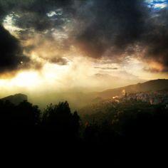 Atardecer en Lanjaron (Granada)