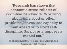 """Quote Of The Day: Nicholas Kristof On """"It's Not Just About Bad Choices"""""""