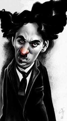 Charlie Chaplin - illustration of  Bogdan Covaciu - CARICATURE: http://dunway.com/