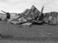 David Gómez Fontanills. Ai Weiwei 'Template' Installation, Swept Down by a Thunderstorm; Documenta 12 Kassel 2007. 11 June 2005, 22.42.57, Wikimedia Commons.