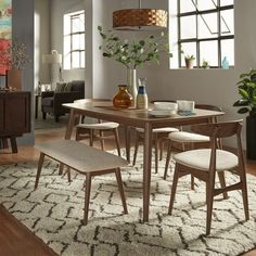 4 Dining Chairs, Dining Room Bar, Dining Room Design, Dining Rooms, Small Dining Room Sets, Kitchen Tables, Dinning Table, Dining Bench, Small Living Room Design