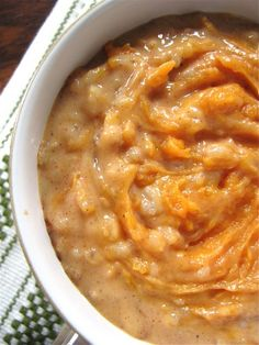 I almost forgot how delicious my Apple Cinnamon Brown Rice Pudding was.I have someone to thank for stumbling the recipe as the increased traffic to that particular post reminded me Sweet Potato Pudding, Sweet Potato Rice, Sweet Potato Recipes, Baby Food Recipes, Cooking Recipes, Brown Rice Cooking, Brown Rice Recipes, Seitan, Detox Recipes