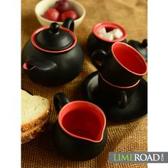 Make it a special morning! Pristine cool; two tone tea set only for Rs. 887/-