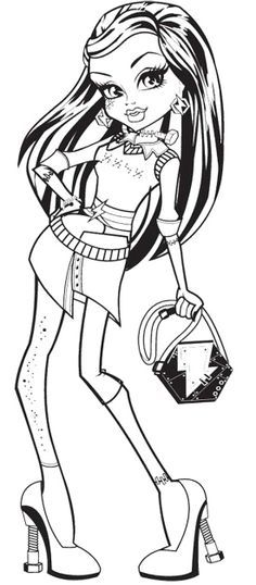 monster high free printables | Do you like this coloring pages ...
