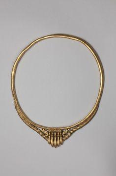 Golden Collar - 5th Century BC Location: Merzig-Besseringen, Saarland, Germany