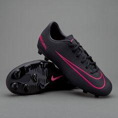 Nike Kids Mercurial Vapor XI FG Soccer Cleats (Black Pink Blast) 831945-006  1ea77c187fe60
