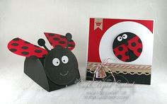 WORKIN' OUT THE INKS: LADYBUG BOX & CARD ON CRAFT PROJECT CENTRAL