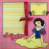 Layout with Snow White from Cricut