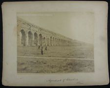 Antique Photo Rome Italy Claudio Aqueduct 1880/89