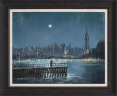 Jeff Rowland - Blue Moon - Framed #art #romance #rain