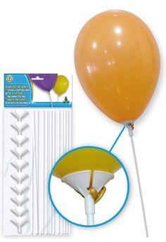 Varillas de plástico para globos