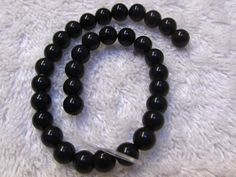"Black Onyx, 6mm round, half strand, 8"" long, lot of 33,  black opaque bead, bead supply, jewelry making, many possiblites by MysticWheel on Etsy"
