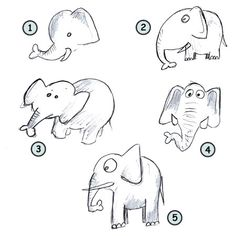 Image of: Easy Drawing Cartoon Elephants Pinterest 53 Best How To Draw Zoo Animals Images Step By Step Drawing Easy