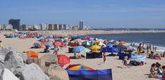 O Palhetas na Foz: Calor coloriu hoje as praias da Figueira e Buarcos...