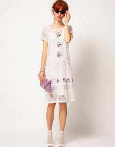 Kaftan Dress with Bright Embroidery £120.00 from the new asos salon collection