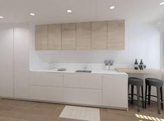 Cocinas Kitchen, Small Spaces, Kitchen Design, Home Decor, Kitchens, Bedroom Cabinets, Home Kitchens, Modern Kitchen Lighting, Kitchen Wood