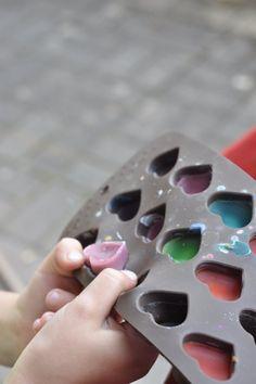 Wachsmalstifte homemade - DIY-Bastelideen mit Kindern #basteln #wachsmalstifte